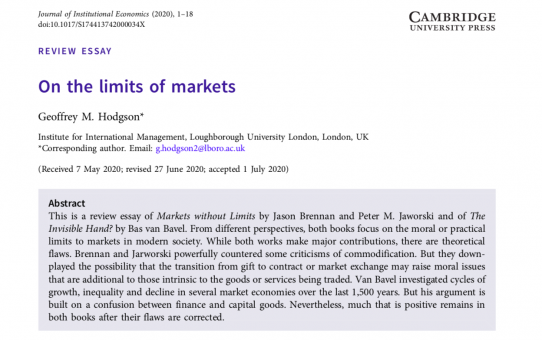 On the limits of markets